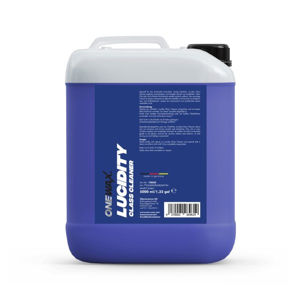 LUCIDITY GLASS CLEANER 5 LITER